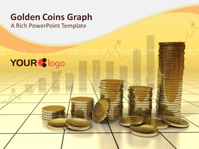 ID# 311 - Golden Coins - PowerPoint Template