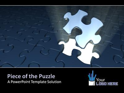 Puzzle Piece Picture Reveal Game A Powerpoint Template From