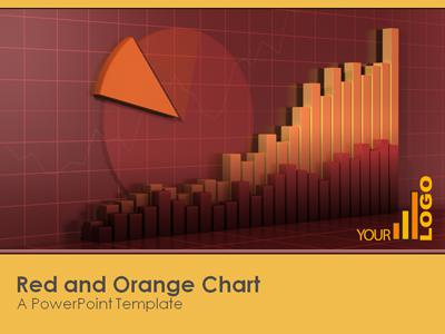 ID# 320 - Red Orange Graph - PowerPoint Template