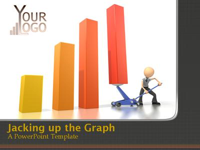 ID# 325 - Jacking Up The Graph - PowerPoint Template