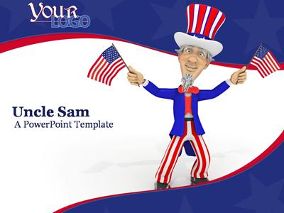 ID# 335 - Uncle Sam - PowerPoint Template