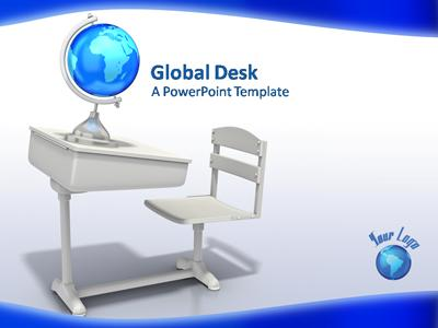 ID# 344 - Global Desk - PowerPoint Template