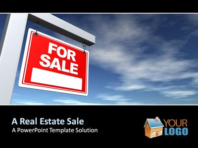 ID# 346 - Real Estate Sign - PowerPoint Template