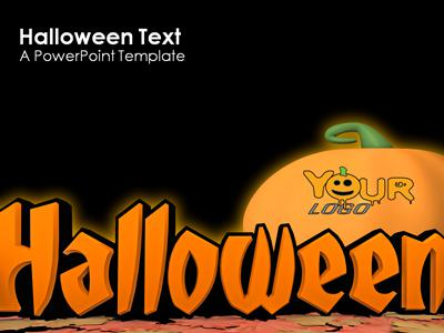 ID# 359 - Halloween Text - PowerPoint Template