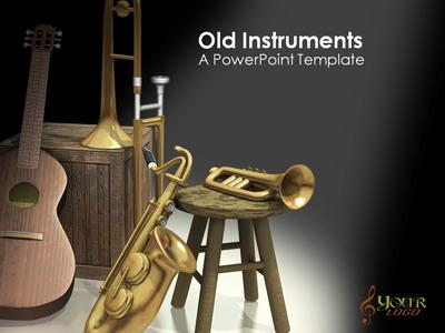 ID# 360 - Old Instruments - PowerPoint Template