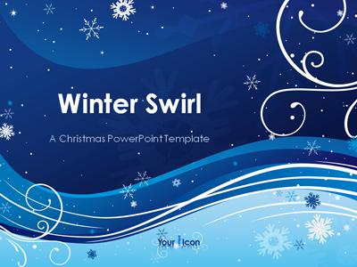 Winter Swirl A Powerpoint Template From Presentermedia Com