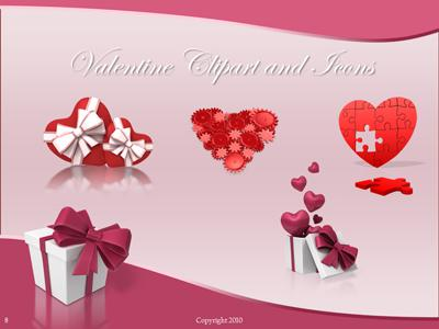 Valentine Hearts - A PowerPoint Template from PresenterMedia.com