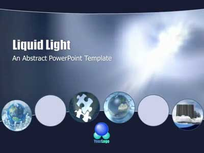 ID# 404 - Liquid Light - PowerPoint Template