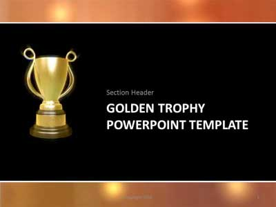 golden trophy a powerpoint template from presentermedia com