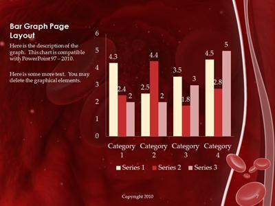 Red blood cell vein a powerpoint template from presentermedia toneelgroepblik Gallery