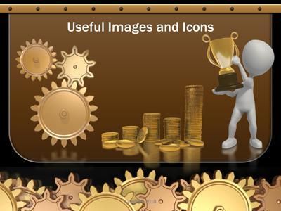 Golden Gears A Powerpoint Template From Presentermedia