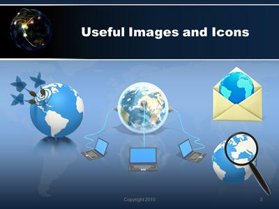 Global network a powerpoint template from presentermedia toneelgroepblik Images