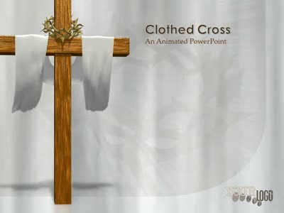 ID# 2131 - Clothed Easter Cross - PowerPoint Template