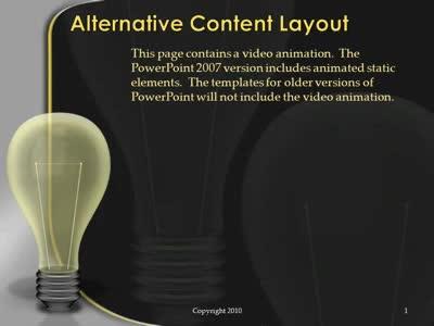Light Bulb Idea A Powerpoint Template From Presentermedia