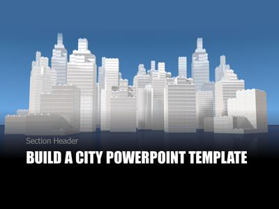 Build A City A Powerpoint Template From Presentermedia