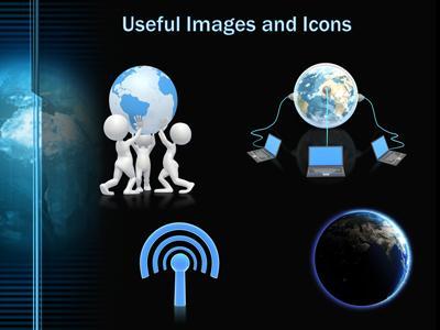 Digital earth revolving a powerpoint template from presentermedia toneelgroepblik Gallery
