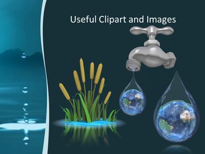 Water drop a powerpoint template from presentermedia toneelgroepblik Image collections