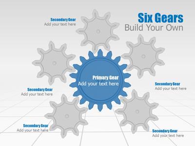 Gear Tool Kit - A PowerPoint Template from PresenterMedia.com