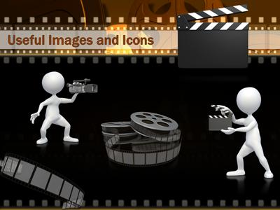 Film and movie reels a powerpoint template from presentermedia toneelgroepblik Image collections