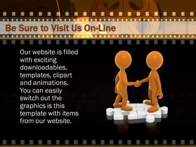 Film And Movie Reels A Powerpoint Template From Presentermedia
