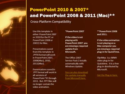 Orange earth a powerpoint template from presentermedia toneelgroepblik Gallery