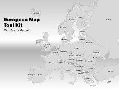 europe map tool kit a powerpoint template from presentermedia com
