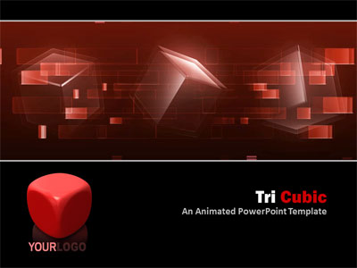 ID# 4287 - Tri Cubic - PowerPoint Template