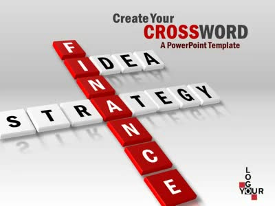 ID# 4848 - Create Your Crossword - PowerPoint Template