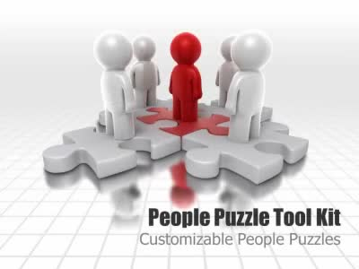 ID# 4915 - People Puzzle Tool Kit - PowerPoint Template