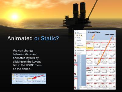 Sunset oil rig a powerpoint template from presentermedia toneelgroepblik Images