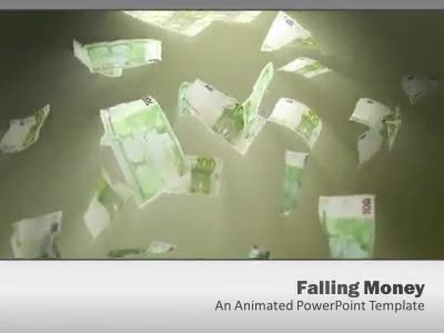 ID# 4986 - Euro Money Falling - PowerPoint Template
