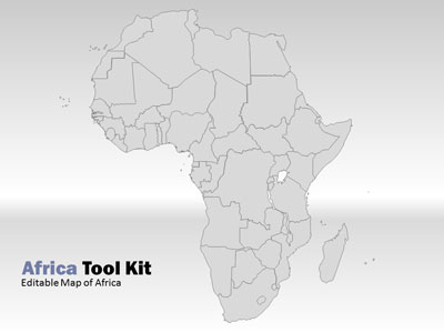 Africa map tool kit a powerpoint template from presentermedia toneelgroepblik Image collections