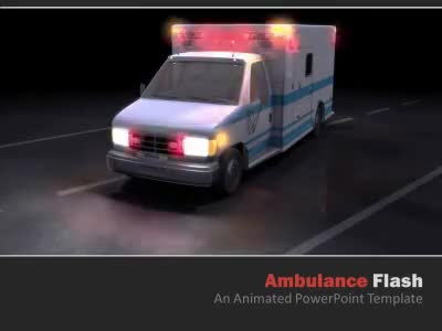 ID# 5137 - Ambulance Flash - PowerPoint Template