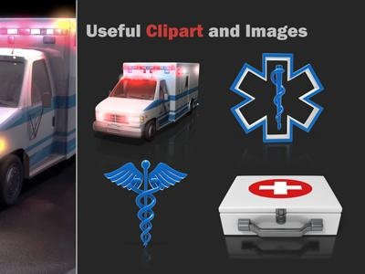 Ambulance Flash - A PowerPoint Template from PresenterMedia.com