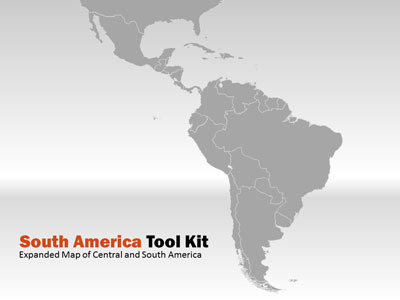 South america map tool kit a powerpoint template from powerpoint template loading preview close toneelgroepblik Choice Image