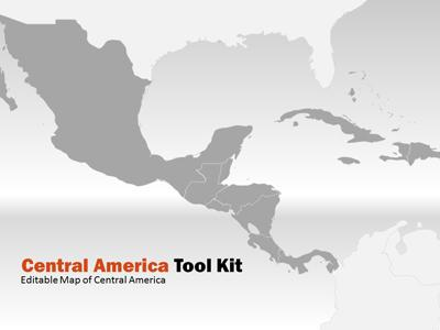 central america map tool kit a powerpoint template from