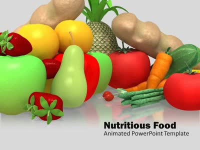 ID# 5301 - Nutritious Healthy Food - PowerPoint Template