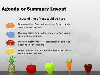 Nutritious healthy food a powerpoint template from presentermedia toneelgroepblik Images