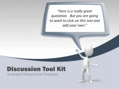 ID# 5326 - Discussion Tool Kit - PowerPoint Template