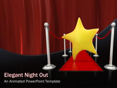 elegant night out a powerpoint template from presentermedia com