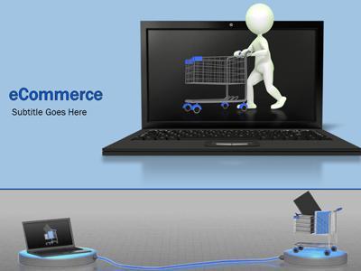 Ecommerce shopping a powerpoint template from presentermedia toneelgroepblik Choice Image