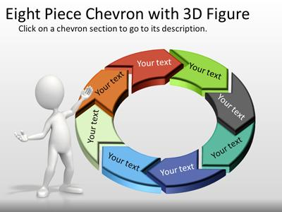 eight piece interactive chevron tool kit a powerpoint template