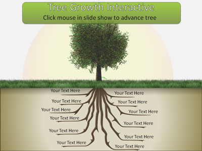 Tree root growth a powerpoint template from presentermedia toneelgroepblik Image collections