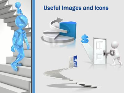 stick figures walking stairways a powerpoint template from