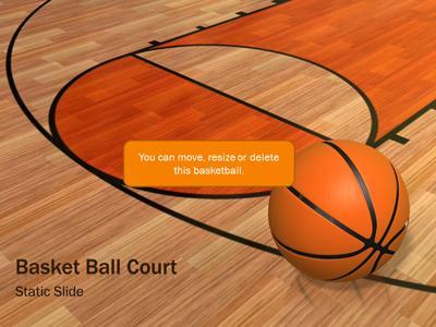 basketball court a powerpoint template from presentermedia com