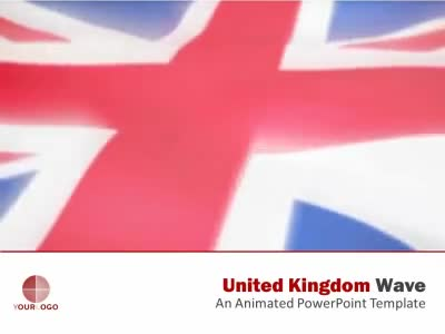 ID# 6240 - United Kingdom Flag - PowerPoint Template