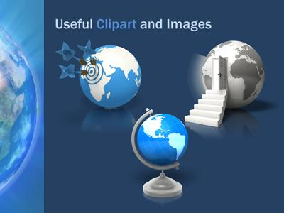 abstract earth a powerpoint template from presentermedia com