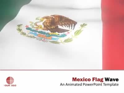 ID# 6310 - Mexico Flag Wave - PowerPoint Template