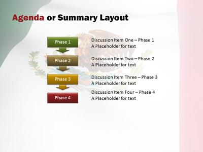 mexico flag wave a powerpoint template from presentermedia com