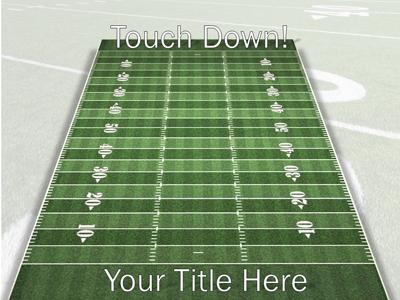 Football Field A Powerpoint Template From Presentermedia